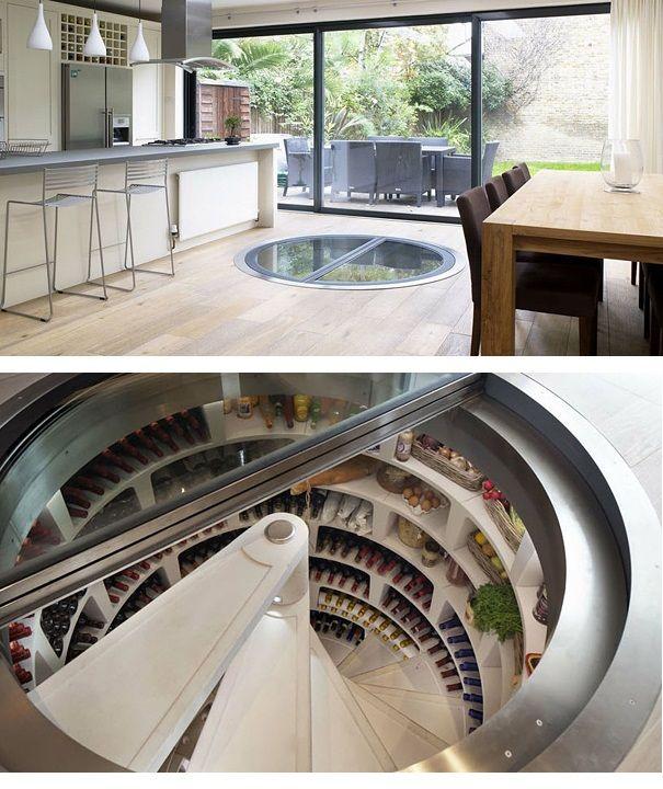 Spiral Wine Storage