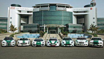dubai police cars fleet