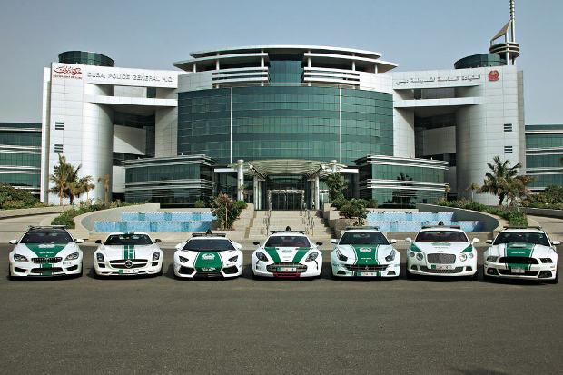 dubai police cars fleet