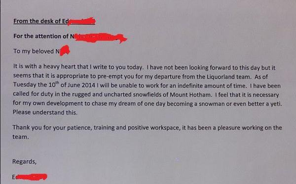 most funny resignation letters and videos
