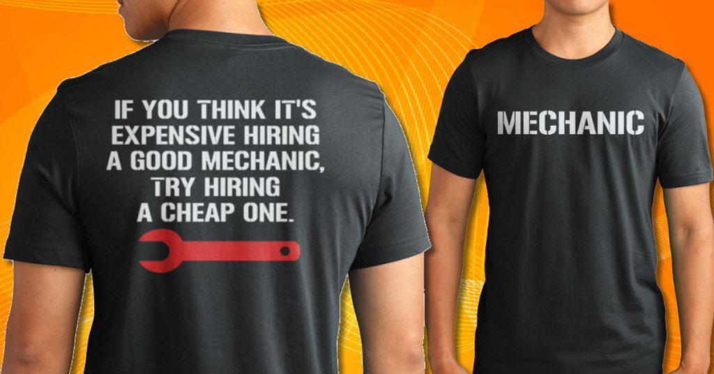 mechanic t shirt hoodie