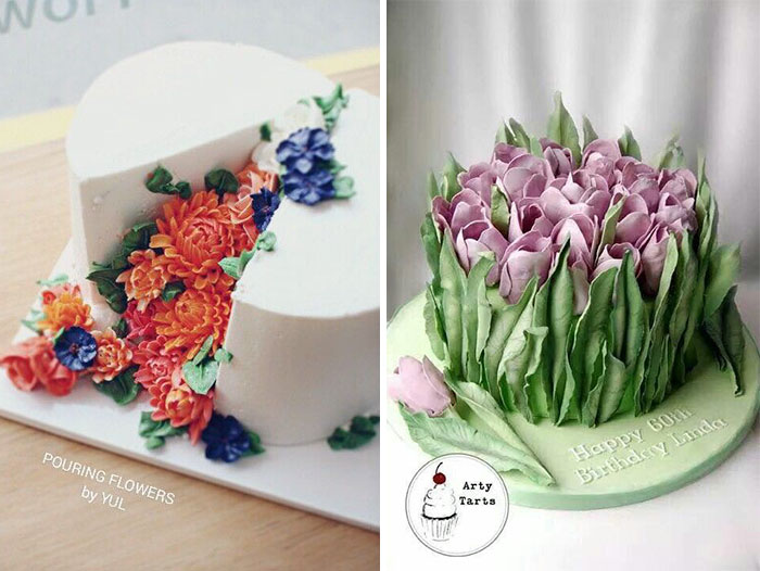 Blooming Flower Cakes