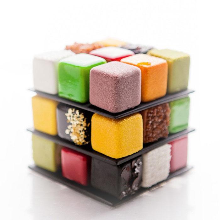 Rubik's Cube Style Cakes