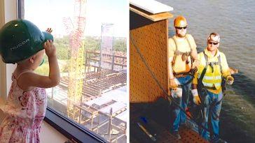 sick child construction worker